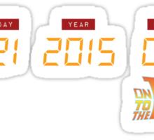 October 21, 2015 in DeLorean Numbers  Sticker