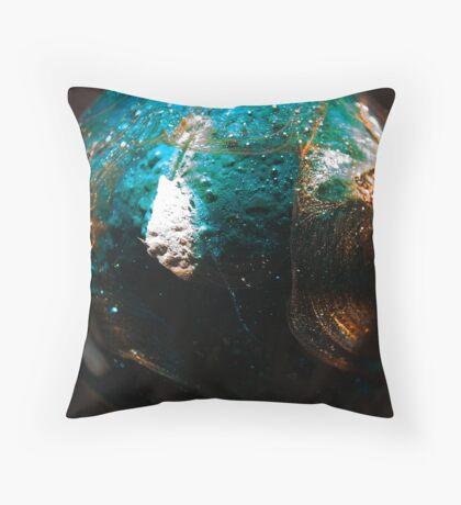 Little Blue Planet Throw Pillow