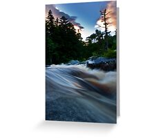 Maine sunset river Greeting Card