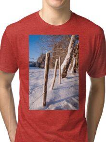 Rural winter scene Tri-blend T-Shirt