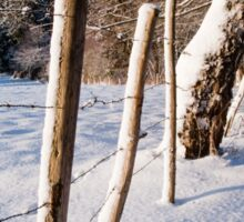 Rural winter scene Sticker