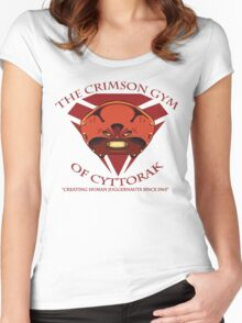 The Crimson Gym of Cyttorak Women's Fitted Scoop T-Shirt