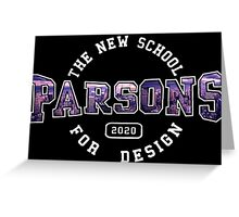Parsons - the new school for design purple sunset print Greeting Card