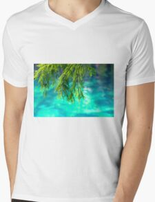 Cypress Leaves Mens V-Neck T-Shirt