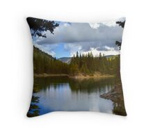 Bear Lake Under Cloudy Skies Throw Pillow