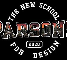 Parsons - the new school for design pink sunset print by mikkimccann