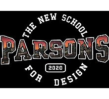 Parsons - the new school for design pink sunset print Photographic Print