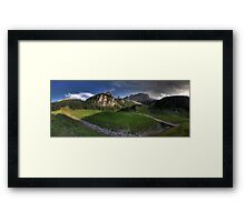 Panoramic Mountains Framed Print