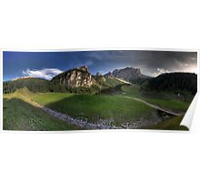 Panoramic Mountains Poster