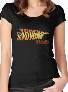 Back To The Future Day - October 21, 2015 , Are you on Track ? Women's Fitted Scoop T-Shirt