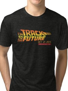 Back To The Future Day - October 21, 2015 , Are you on Track ? Tri-blend T-Shirt
