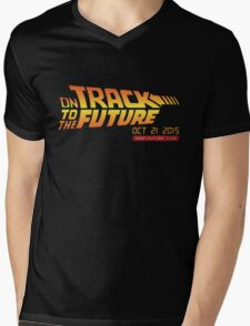 Back To The Future Day - October 21, 2015 , Are you on Track ? Mens V-Neck T-Shirt