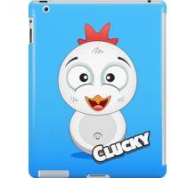 Farm Animal Fun Games - Clucky - Blue Gradient iPad Case/Skin