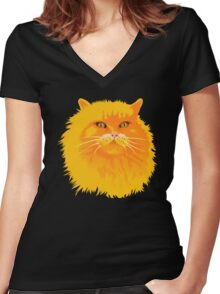 THE KING - A COLLABORATION Women's Fitted V-Neck T-Shirt