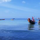 Thai Boats at rest, Koh Tao Island, Thailand by TheSpaniard