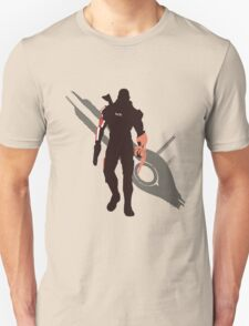 Commander Shepard (Male) - Sunset Shores Unisex T-Shirt