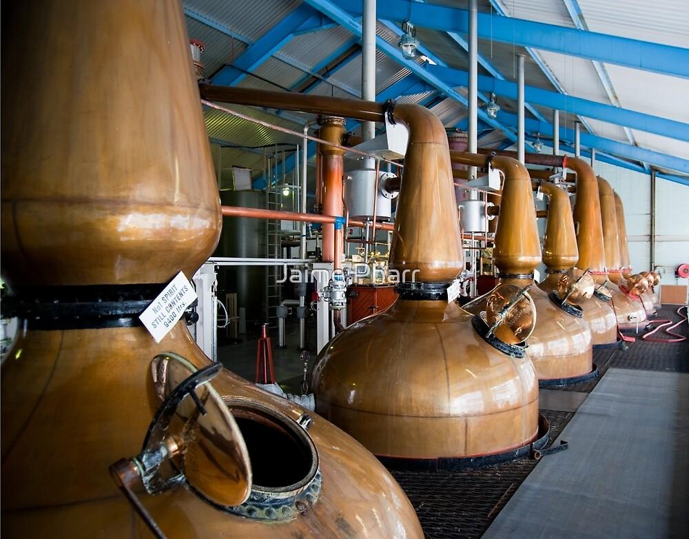 Whisky distillery stills by Jaime Pharr