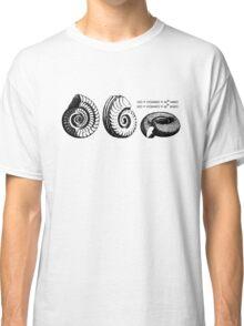 Math Spiral Shells Classic T-Shirt