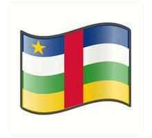 Central African Republic Flag Art Print
