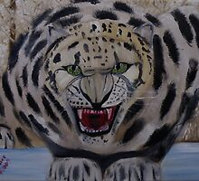 One Angry Snow Leopard by towncrier