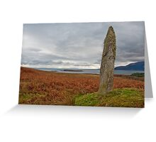 Standing stone and field Greeting Card