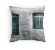 Green Windows Throw Pillow