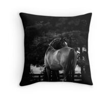 Dark Horse II Throw Pillow