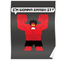 I'm Gonna Smash It! Red Hulk alt. Poster