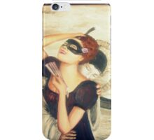 il bacio del pierrot  the kiss of pierrot iPhone Case/Skin
