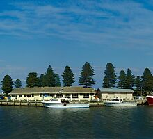 Moyne River, Port Fairy, Victoria, Australia by Andy Berry