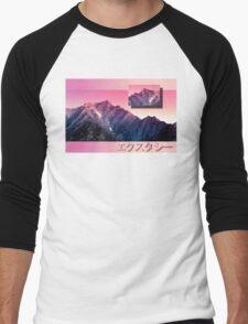 Pink Mountains Men's Baseball ¾ T-Shirt