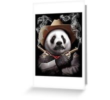 PANDA CROSSGUNS Greeting Card