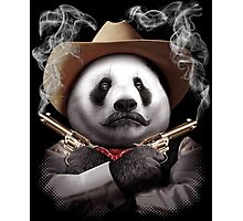 PANDA CROSSGUNS Photographic Print
