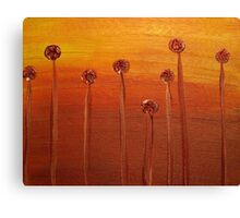 Flame Flowers Canvas Print