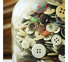 the button jar. Photographic Print