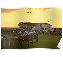 evening racing Epsom Poster