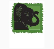 Elephant Art Green and Black Kids Clothes