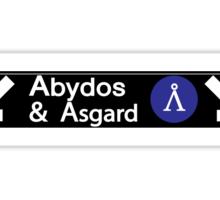 Stargate Subway - Abydos & Asgard Sticker