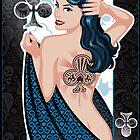 queen of clubs by Jeff Chapman