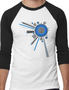 Digital Lens BLU Men's Baseball ¾ T-Shirt