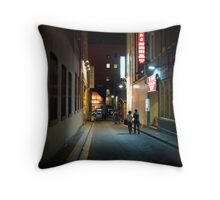 Chinatown Alley Throw Pillow