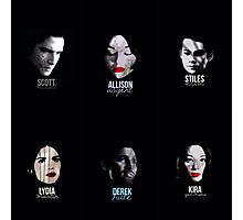 teen wolf series 3b faces Photographic Print