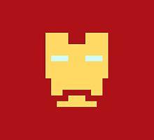 Retro Iron Man by daveypixel