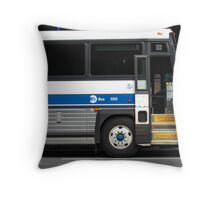 Hop on a NYC Bus! Throw Pillow