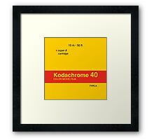 Kodachrome 40 (Type A) Framed Print