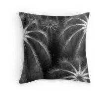 Cacti in Monochrome Throw Pillow