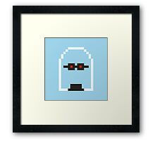 Retro Mr Freeze Framed Print