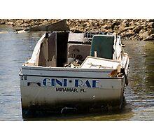Trashed at Sea!! Photographic Print