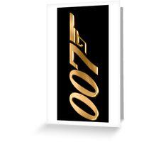 James Bond 007 Gold Greeting Card