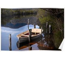 Boat Jetty - Melaleuca, South West Tasmania Poster